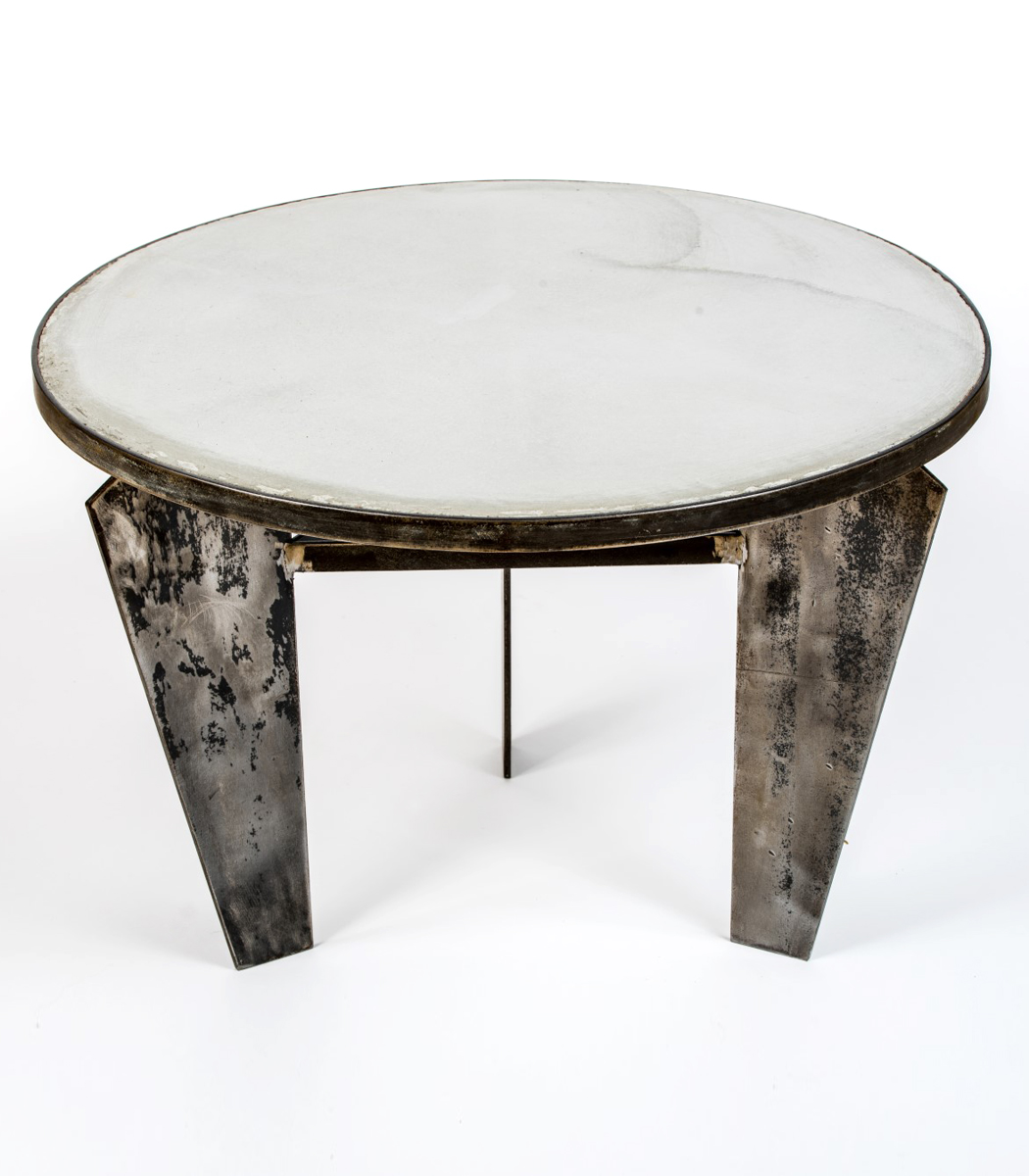 Concrete & steel coffee table 60