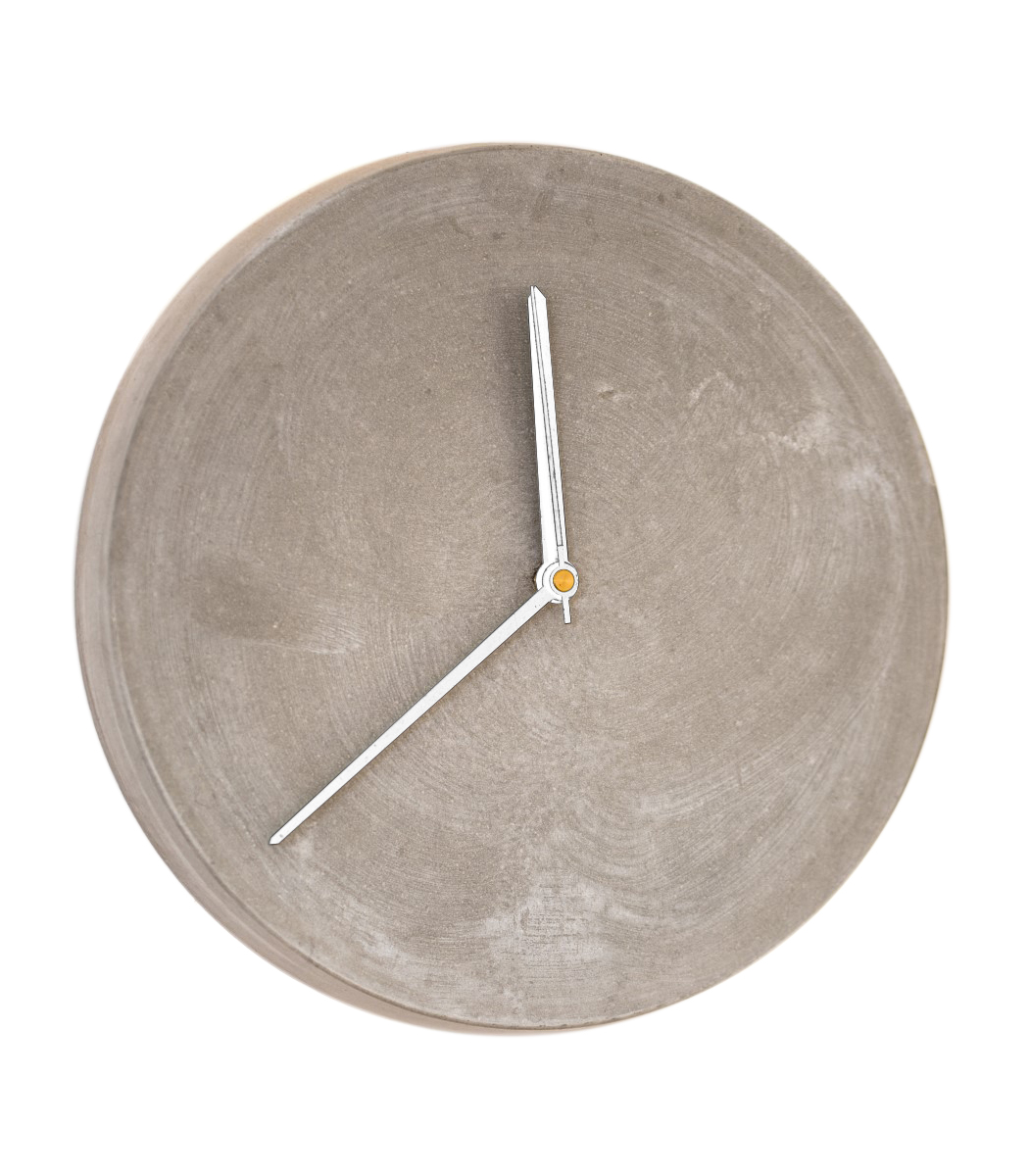 Concrete wall clock 28 with white hands