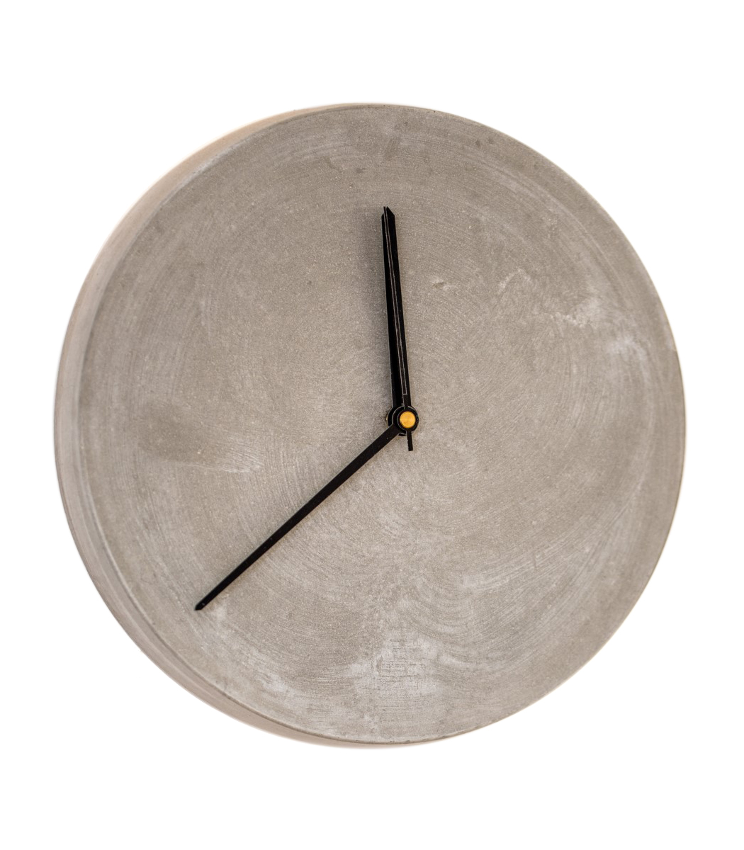 Concrete wall clock 28 with black hands