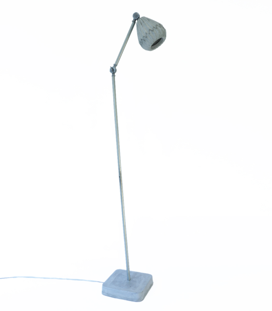 Origami concrete floor lamp