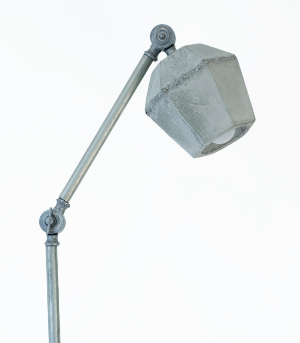 Crystal concrete floor lamp