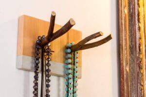 wood double hook rack