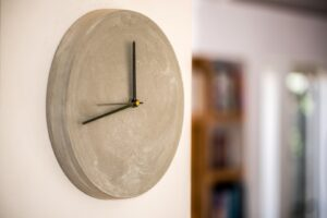 Concrete wall clock 28