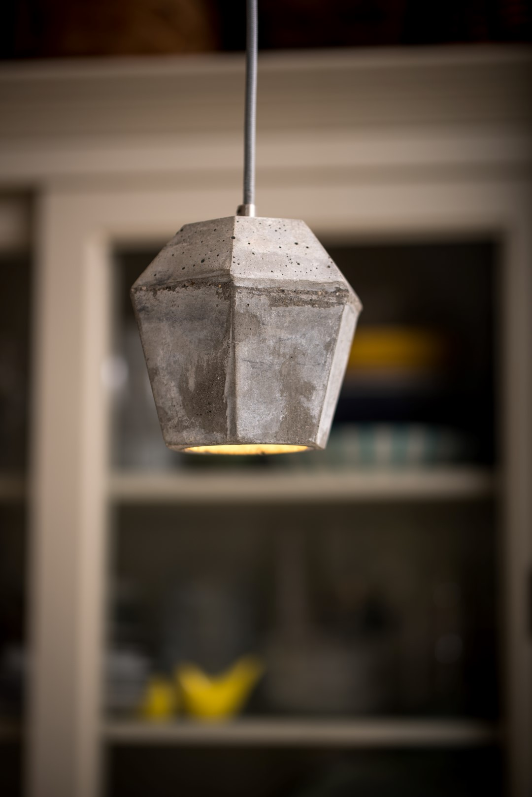 Crystal concrete pendant lampshade