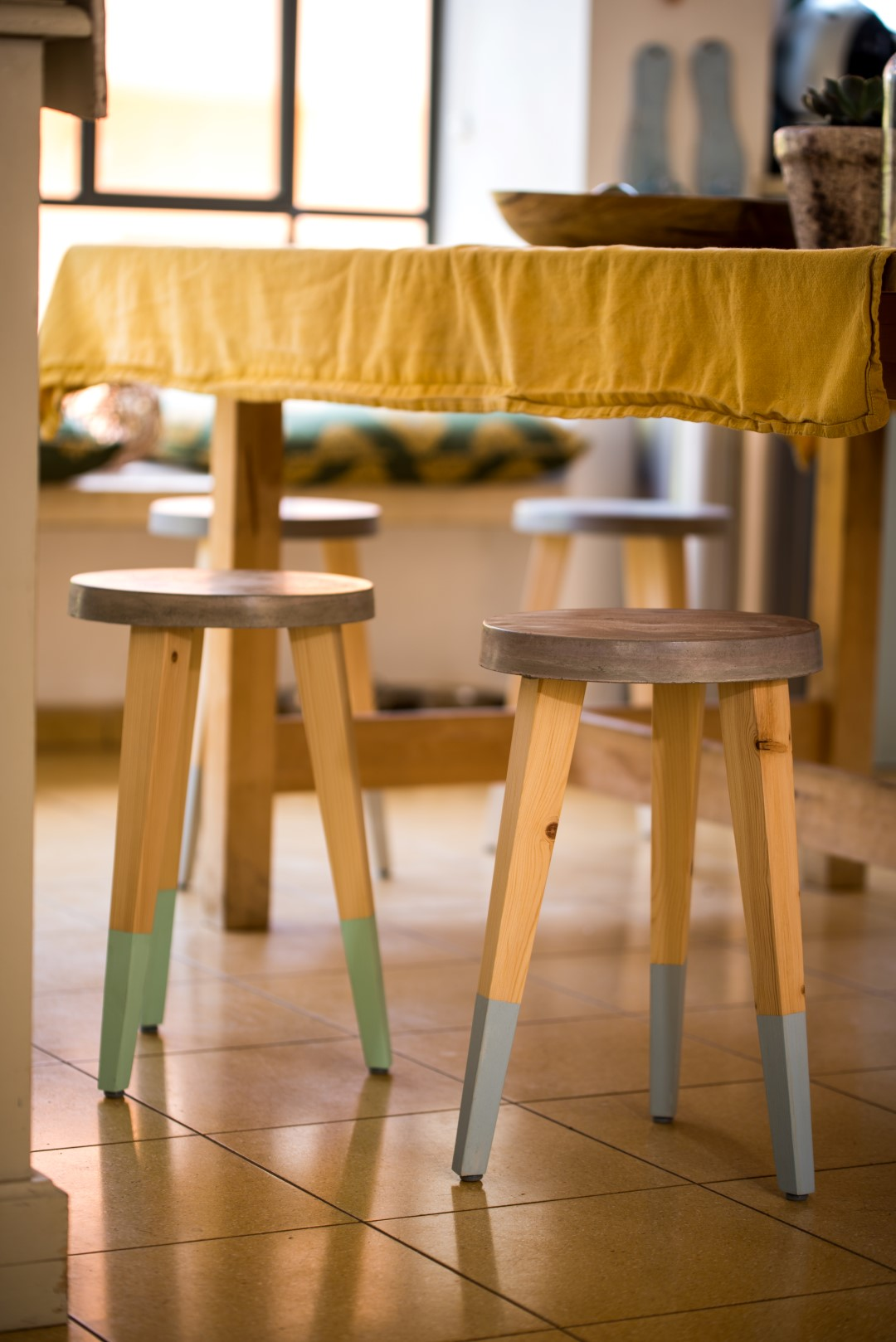 Concrete stool 28