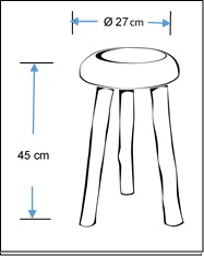 Mushroom shape concrete stool