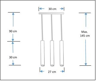 Trio concrete Cylinders pendant lampshade