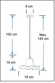 Tutu concrete pendant lampshade