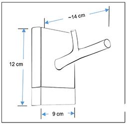 wood single hook rack